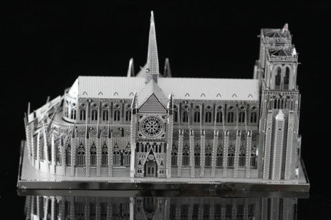 ICONX Notre Dame Cathedral Metal Model