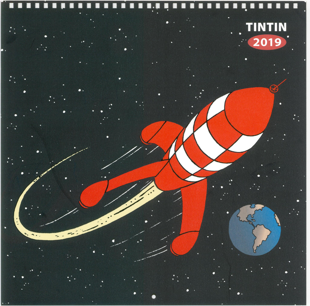 2019 Explorers on the Moon Tintin Wall Calendar 30X30cm