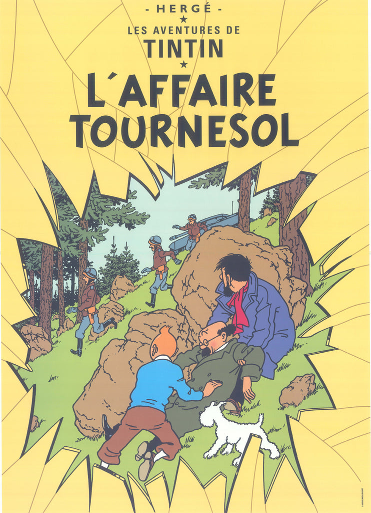 Tintin Postcard: L'Affaire Tournesol (The Calculus Affair)