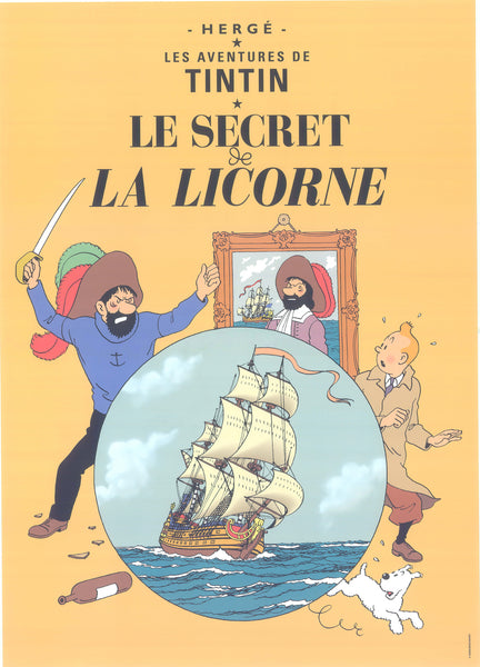 Tintin Postcard: Le Secret de La Licorne (The Secret of the Unicorn)