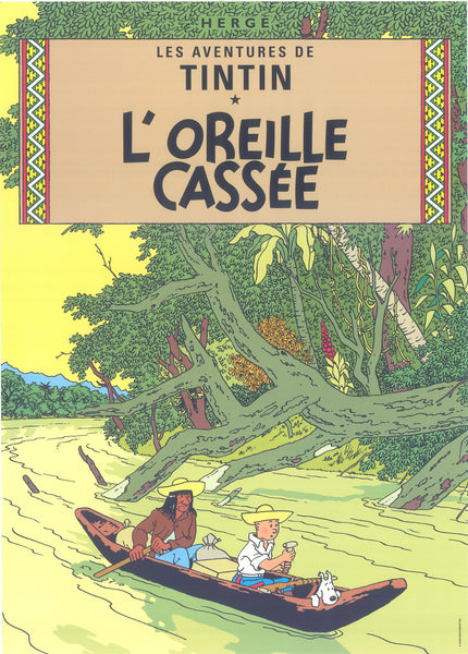 Tintin Postcard: L'Oreille Cassee (The Broken Ear)