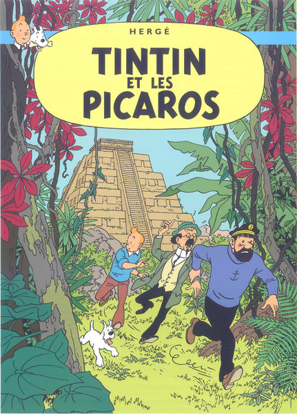 Tintin Postcard: Tintin Et Les Picaros (Tintin and the Picaros)