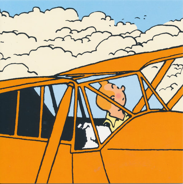 The Adventures of Tintin Airplane Set of 8 Note Cards