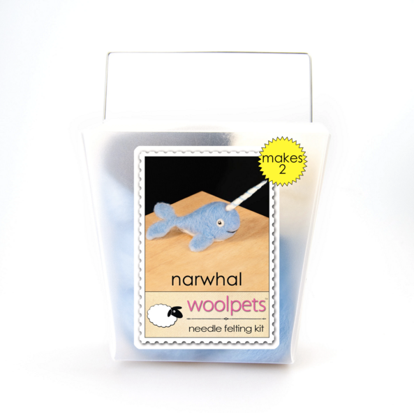 Woolpets Narwhal Needle Felting Kit