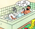 Tintin Bath 100% Cotton Towel Grey