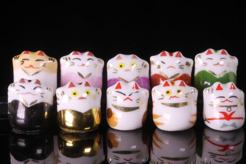 Set of Ten Mankei Cats