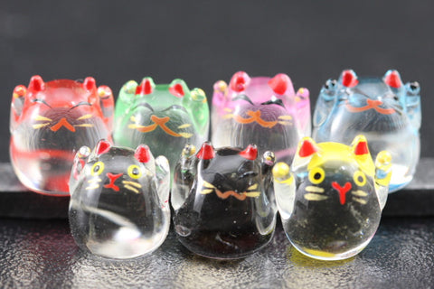 Set of Seven Glass Mankei