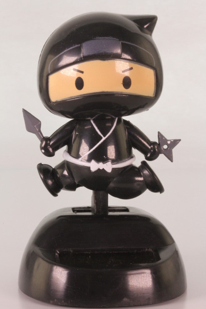 Solar Black Ninja Wobbler Toy