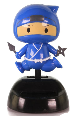 Solar Blue Ninja Wobbler Toy