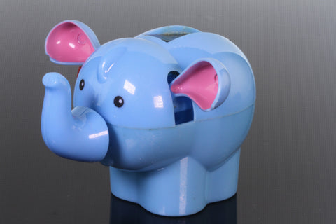 Solar Blue Elephant Bobble Head Toy