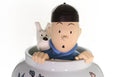 Tintin Blue Lotus Ceramic Vase 44 cm