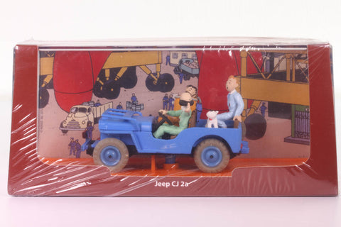 Jeep CJ2A Die Cast Car From Tintin Destination Moon