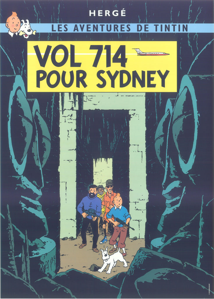Tintin Postcard: Vol 714 Pour Sydney (Flight 714 to Sydney)
