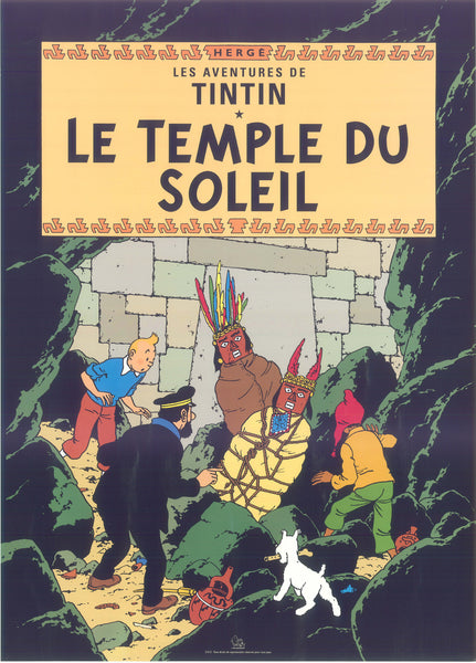 Tintin Postcard: Le Temple Du Soleil (Prisoners of the Sun)