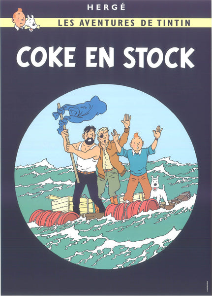 Tintin Postcard: Coke En Stock (The Red Sea Sharks)