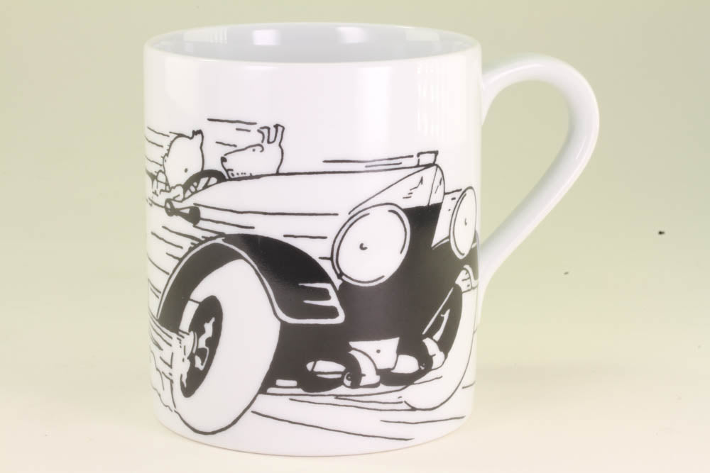 Tintin Land of the Soviets Car At Speed Mug