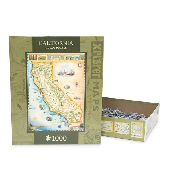 Xplorer Maps California Jigsaw Puzzle