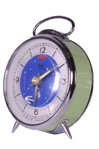 Diamond Shanghai Windup Comet Clock Green