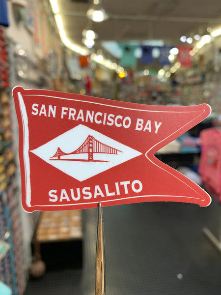 San Francisco Bay Sausalito Flag Sticker