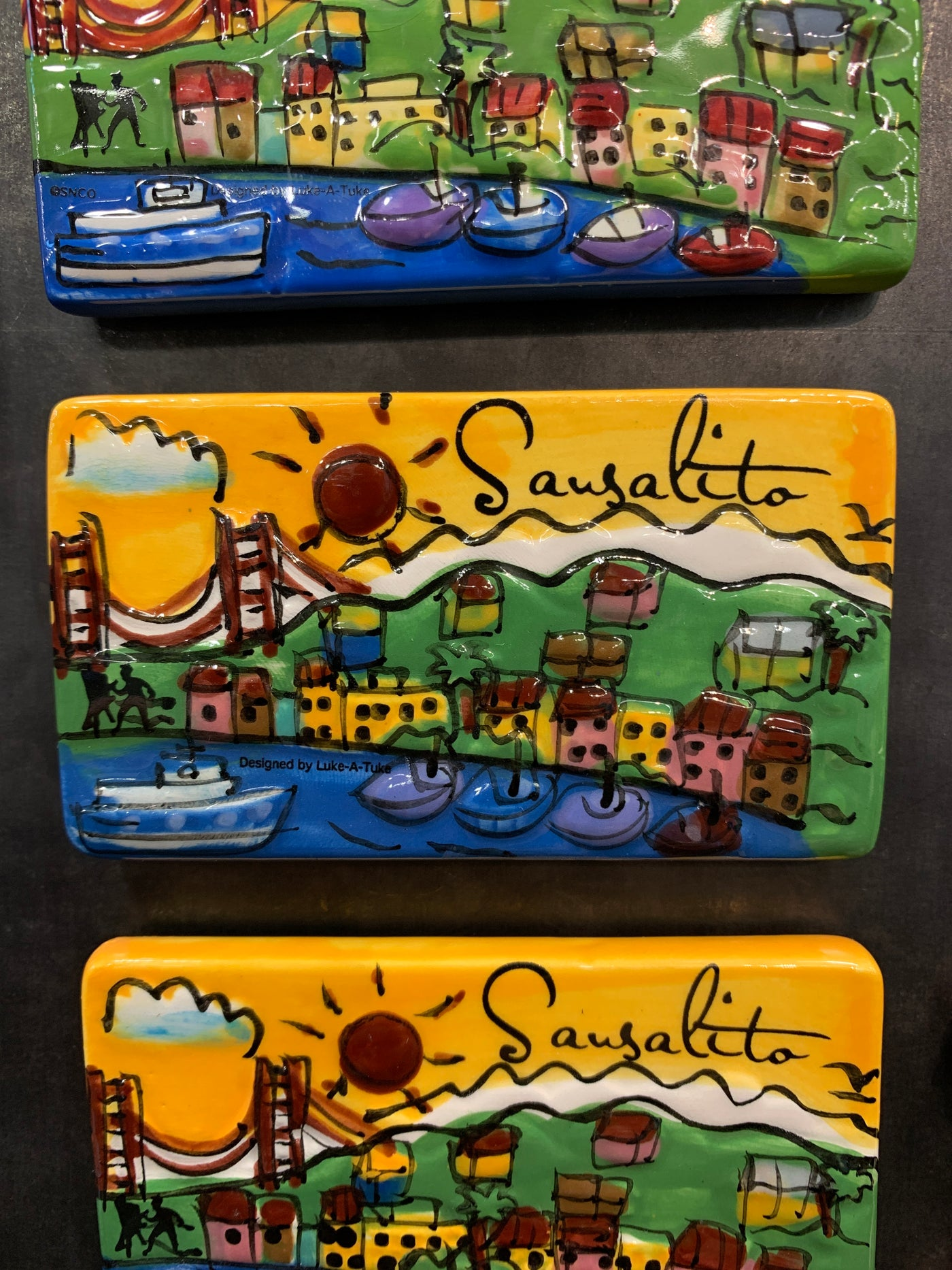 Sausalito Village Hand Painted Magnet