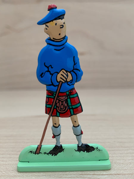 Black Island Tintin Metal Relief Figure