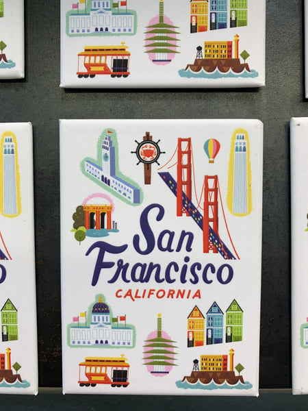 San Francisco City Scenes Magnet