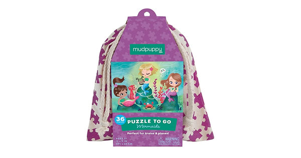 36 Piece Mermaids Puzzle To Go
