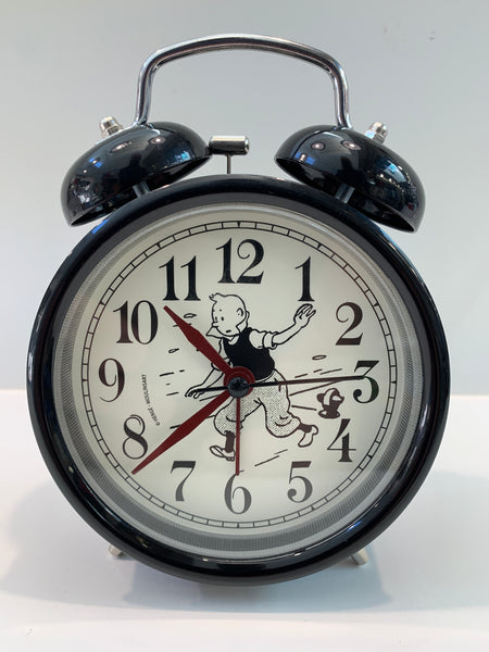 Tintin In Route Twin Bell Alarm Clock