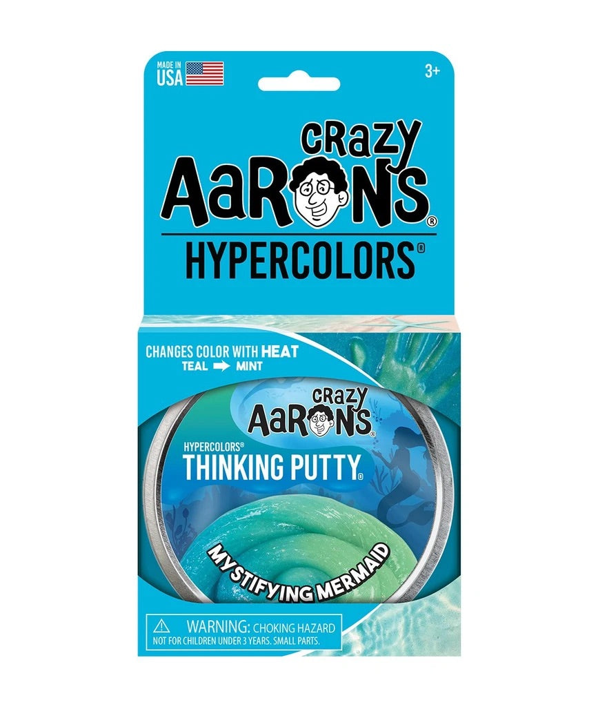 Crazy Aaron's Hypercolors Thinking Putty Mystifying Mermaid
