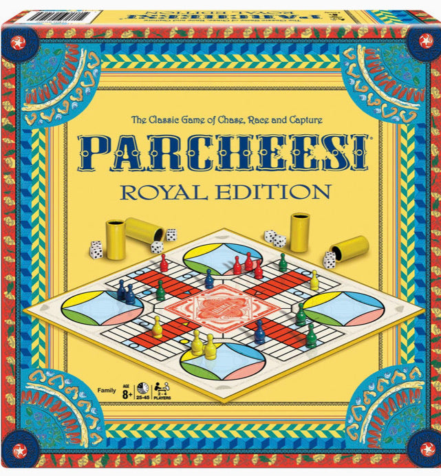 Parcheesi Royal Edition The Classic Game if Chase, Race and Capture