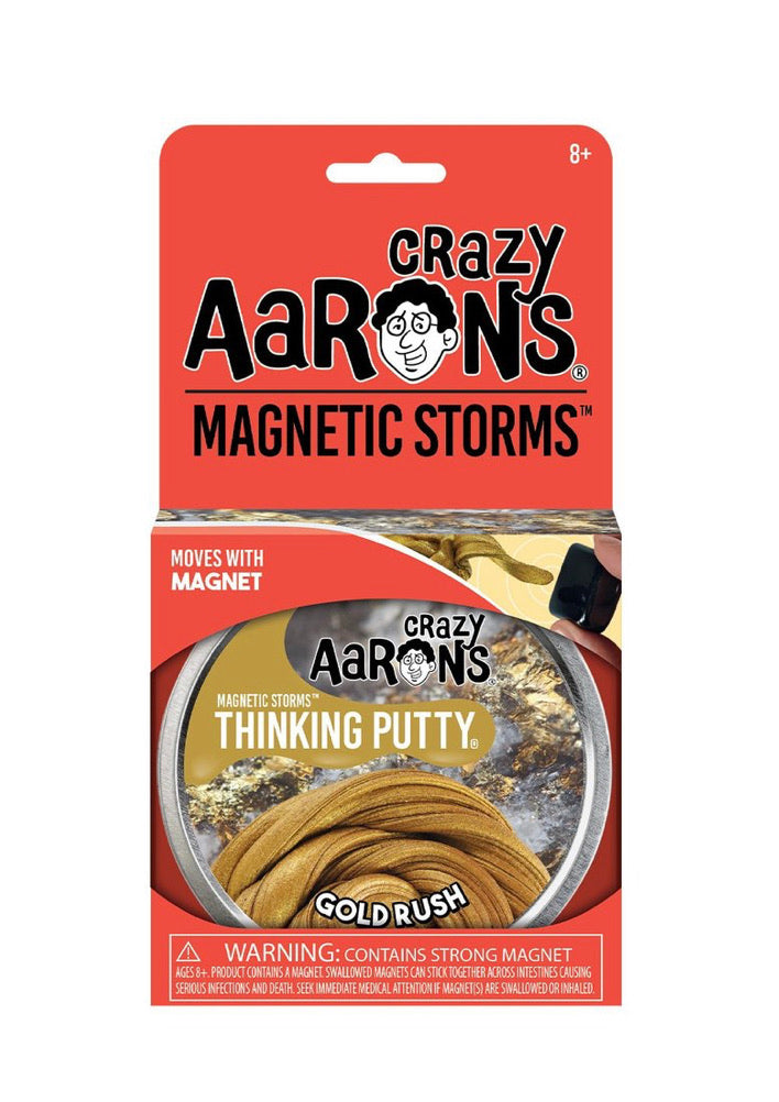 Crazy Aaron's Magnetic Thinking Putty Gold Rush