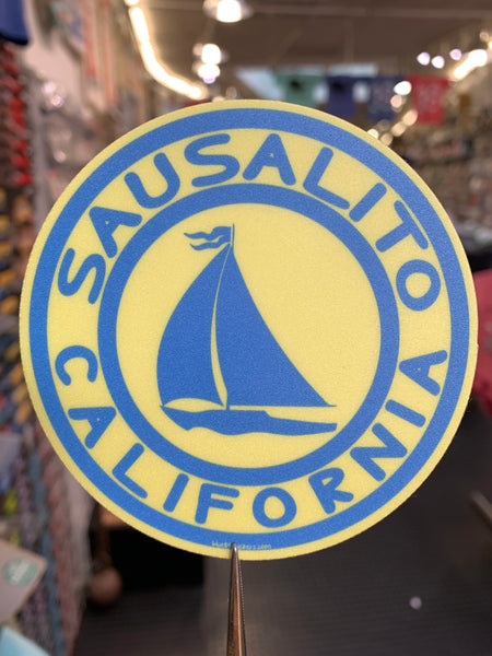 Sausalito California Sailboat Sticker