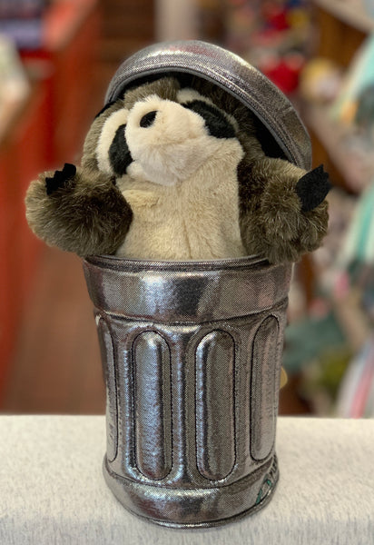 Raccoon in Garbage Can 10""