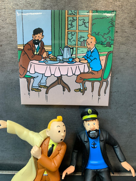 Captain Haddock and Tintin At Breakfast Magnet