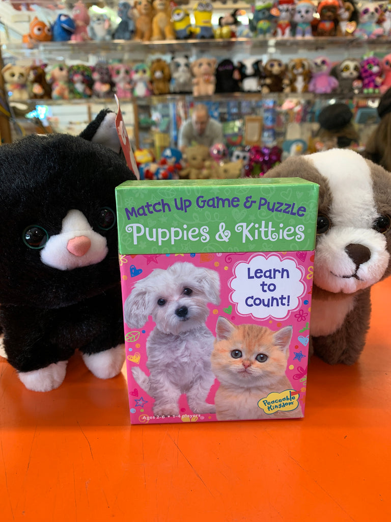 Puppies and Kitties Match Up Game and Puzzle