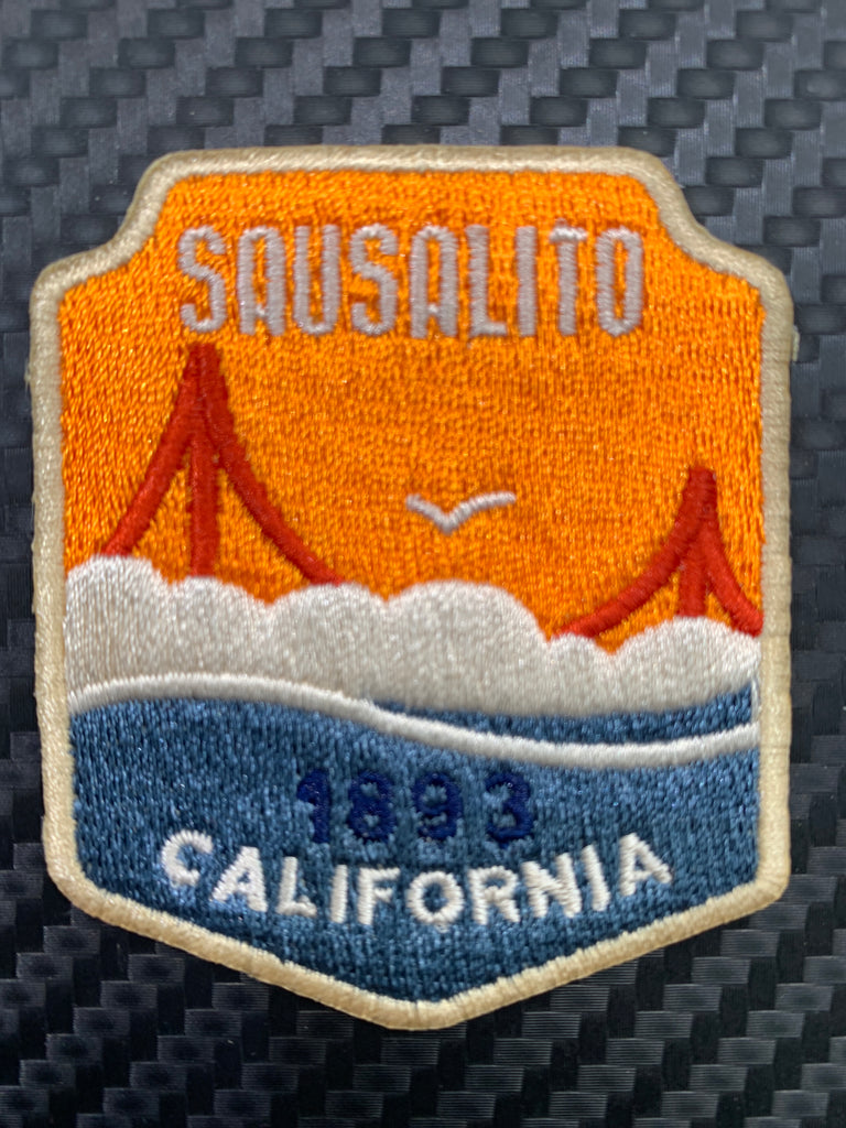 Sausalito Foggy Golden Gate Embroidered Patch