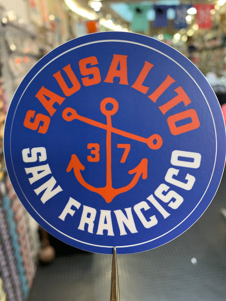 Sausalito and San Francisco 1937 Anchor Sticker
