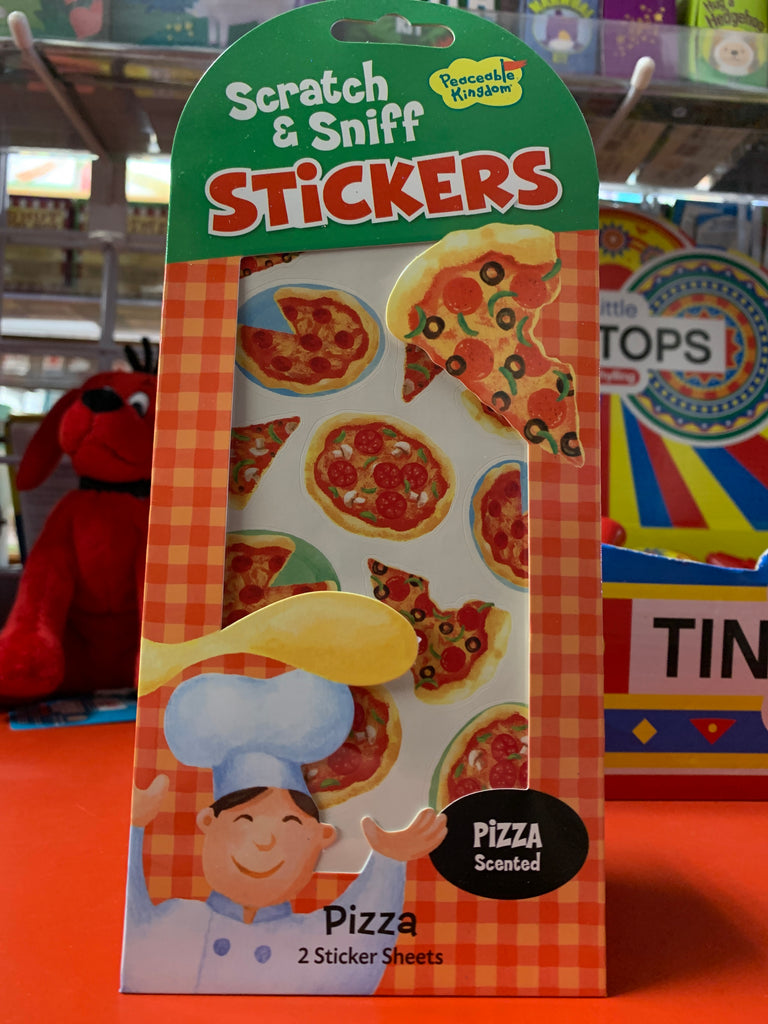 Scratch and Sniff Pizza Scented Stickers!