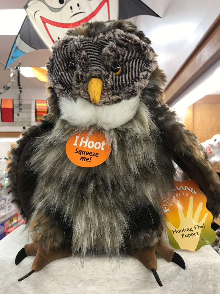 Hooting Owl Folkmanis Puppet 16""