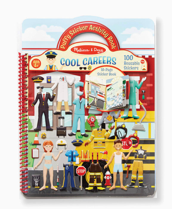 Melissa and Doug Cool Careers Puffy Sticker Activity Book
