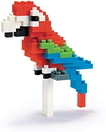 Nanoblock Red-and-Green Macaw