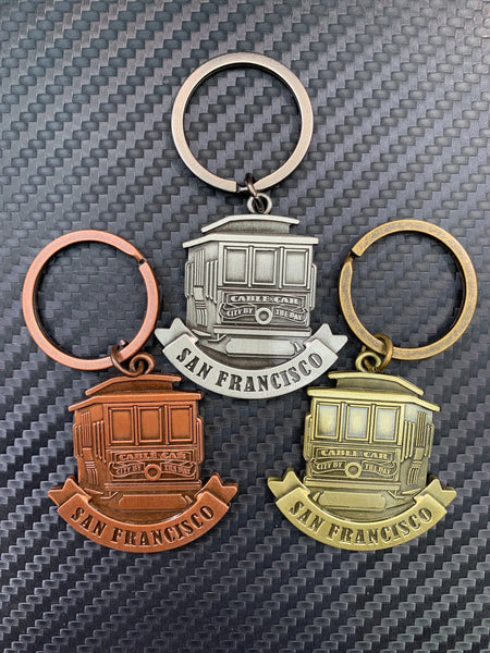 Metal San Francisco Cable Car Keychain