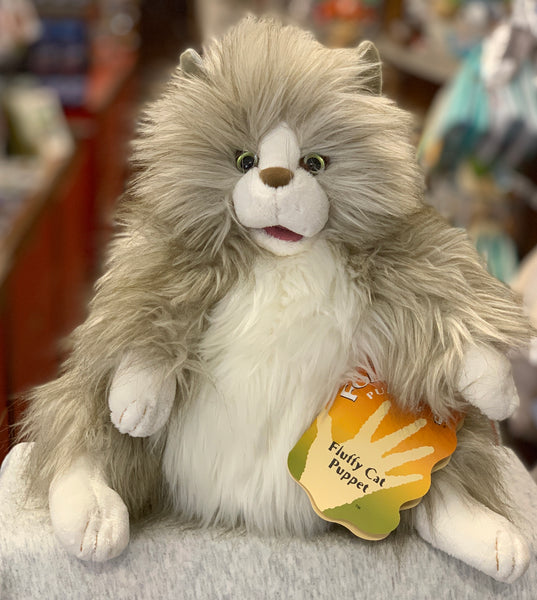 Folkmanis Fluffy Cat Hand Puppet 12""