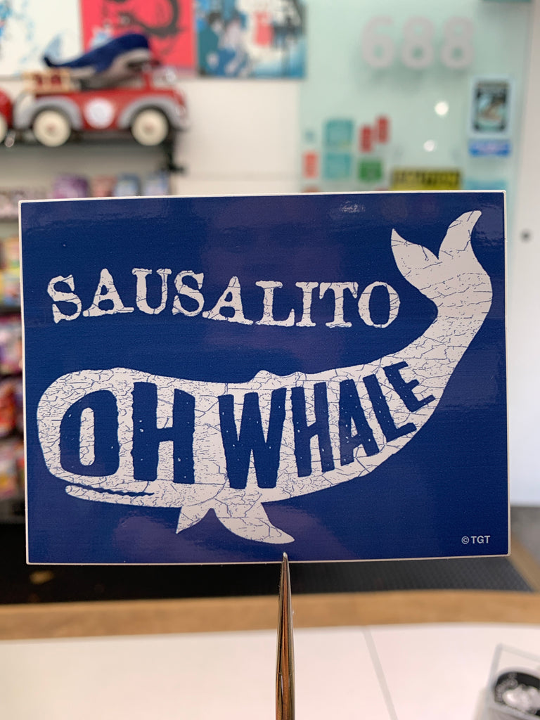 Sausalito Oh Whale Sticker