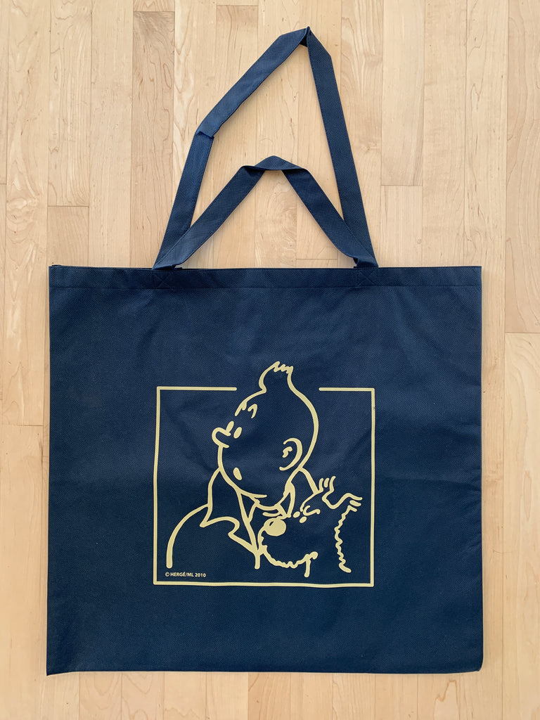 Tintin Recycled Plastic Blue Tote