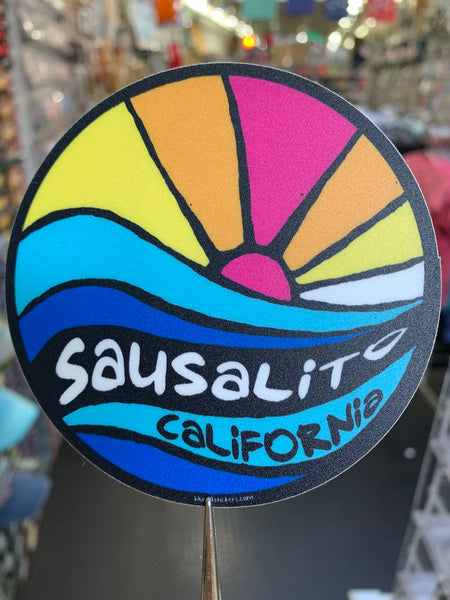 Sunrise Sausalito California Sticker