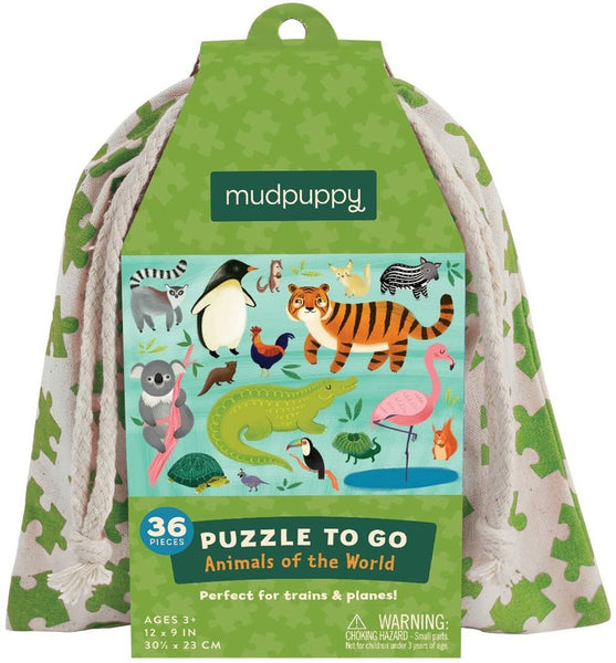 36 Piece Animals of the World Puzzle To Go