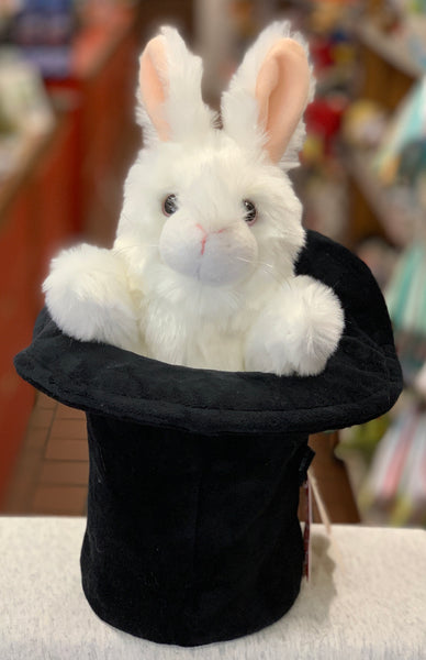 Folkmanis Rabbit in Hat Hand Puppet 14""