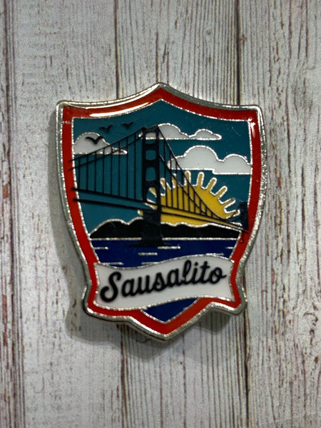 Sausalito Golden Gate Bridge Sunrise Enamel Pin