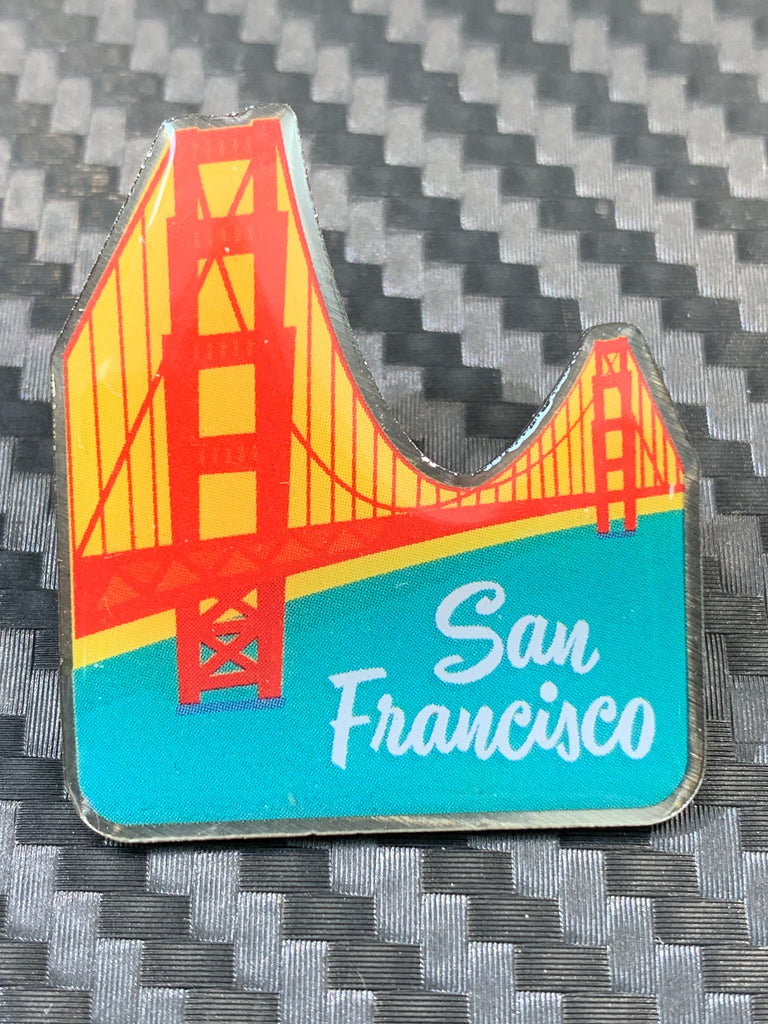 """Spanning The Gate"" Golden Gate Bridge Pin"